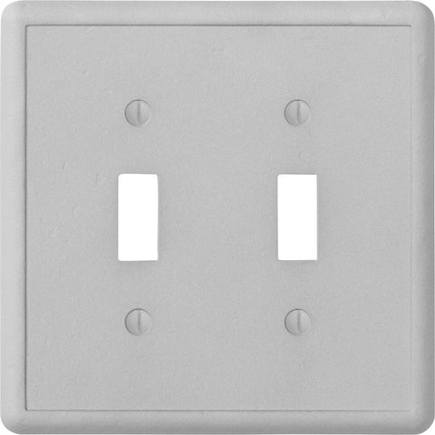 Gray Cast Stone - 2 Toggle Wallplate