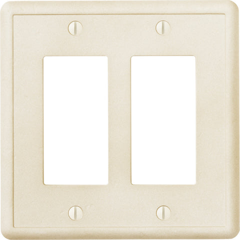 Ivory Cast Stone - 2 Rocker Wallplate