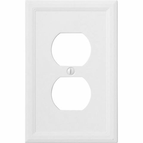 Satin White Insulated - 1 Duplex Wallplate