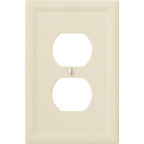 Questech Satin Ivory Insulated - 1 Duplex Wallplate