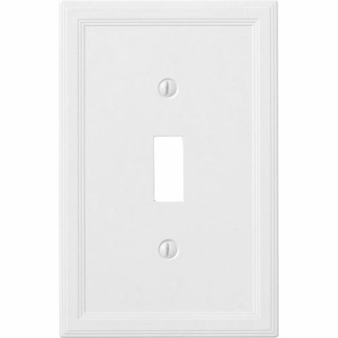 Satin White Insulated - 1 Toggle Wallplate