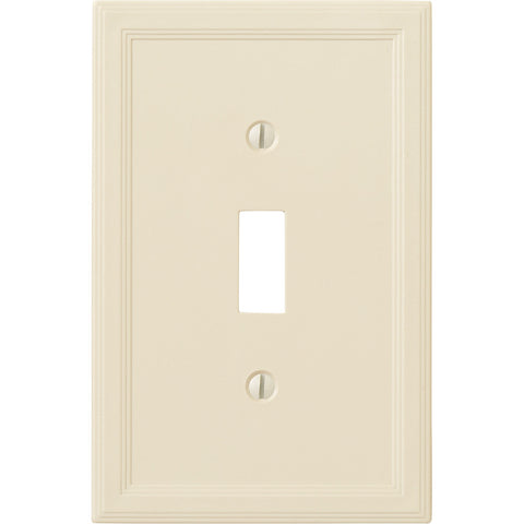 Questech Satin Ivory Insulated - 1 Toggle Wallplate