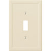 Satin Ivory Insulated - 1 Toggle Wallplate