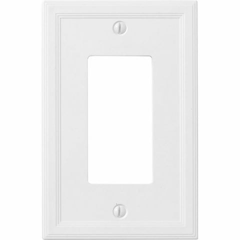 Satin White Insulated - 1 Rocker Wallplate