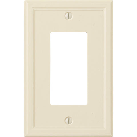 Questech Satin Ivory Insulated - 1 Rocker Wallplate