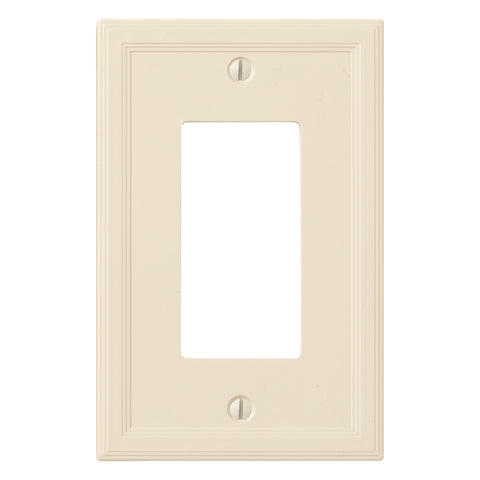 Almond Cast Stone Resin - 1 Rocker Wallplate