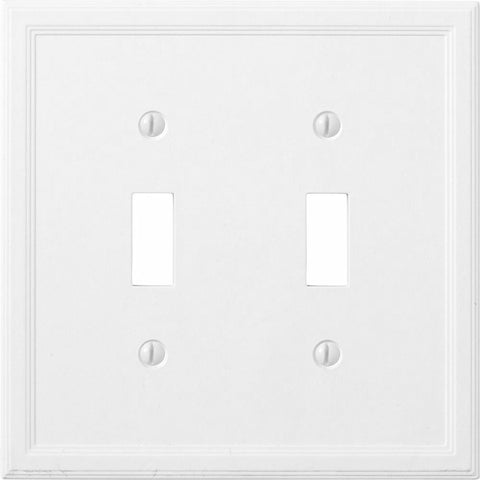 Satin White Insulated - 2 Toggle Wallplate