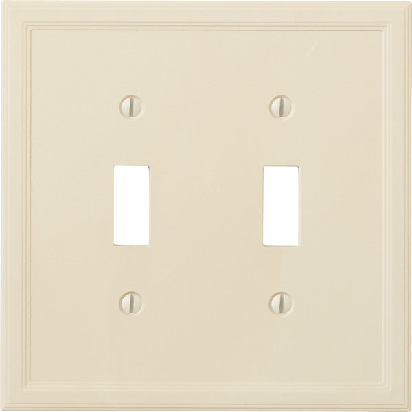Questech Satin Ivory Insulated - 2 Toggle Wallplate