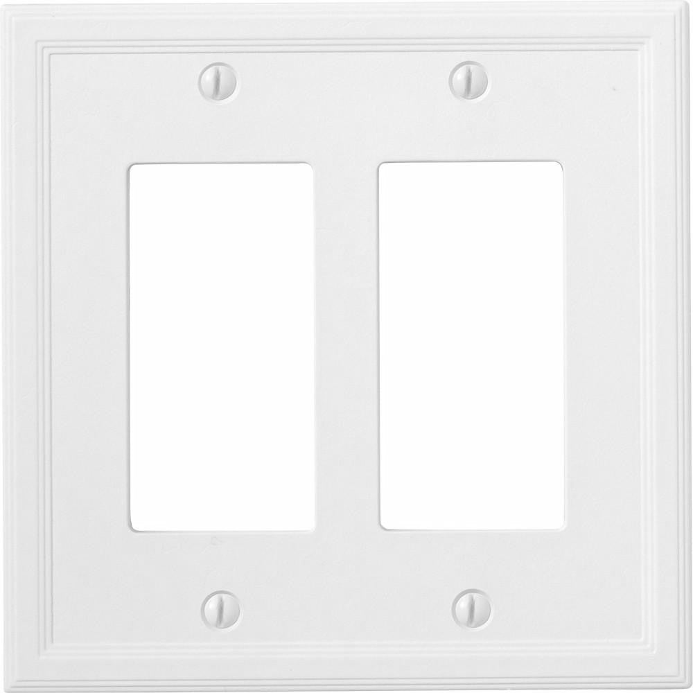 Satin White Insulated - 2 Rocker Wallplate