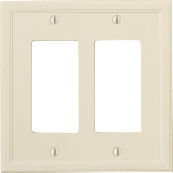 Questech Satin Ivory Insulated - 2 Rocker Wallplate