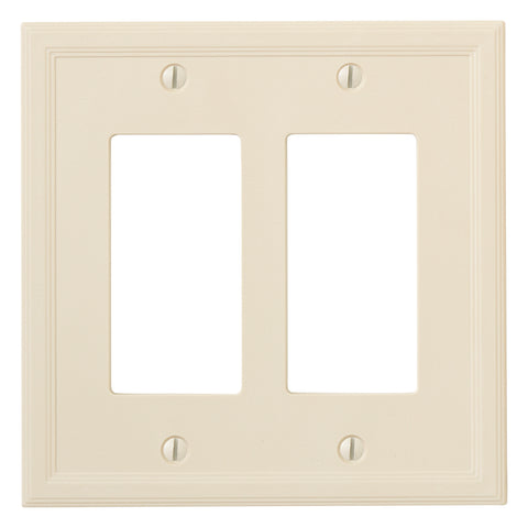 Almond Cast Stone Resin - 2 Rocker Wallplate