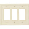 Satin Ivory Insulated - 3 Rocker Wallplate