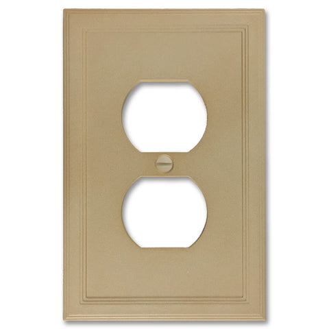 Sandstone Cast Stone Insulated - 1 Duplex Wallplate