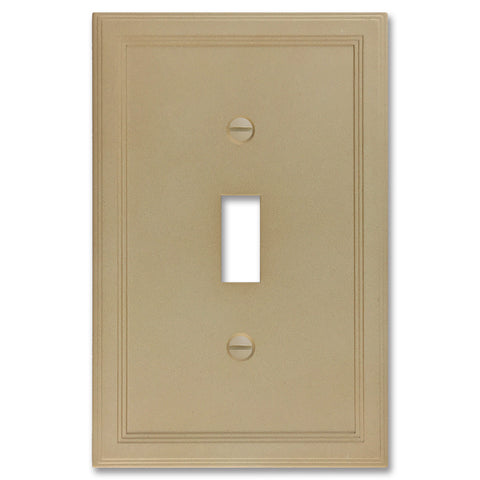 Sandstone Cast Stone Insulated - 1 Toggle Wallplate