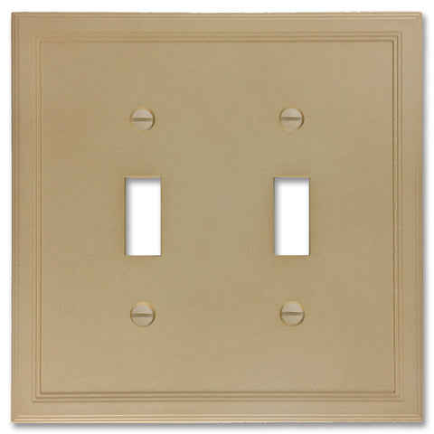 Sandstone Cast Stone Insulated - 2 Toggle Wallplate