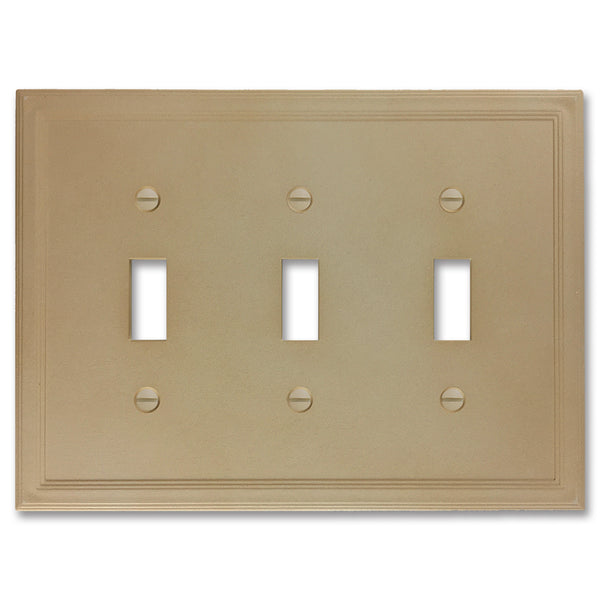 Sandstone Cast Stone Insulated - 3 Toggle Wallplate