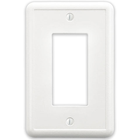 White Linen Cast Stone - 1 Rocker Wallplate
