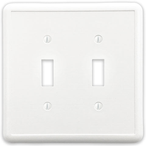 White Linen Cast Stone - 2 Toggle Wallplate
