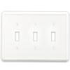 White Linen Cast Stone - 3 Toggle Wallplate
