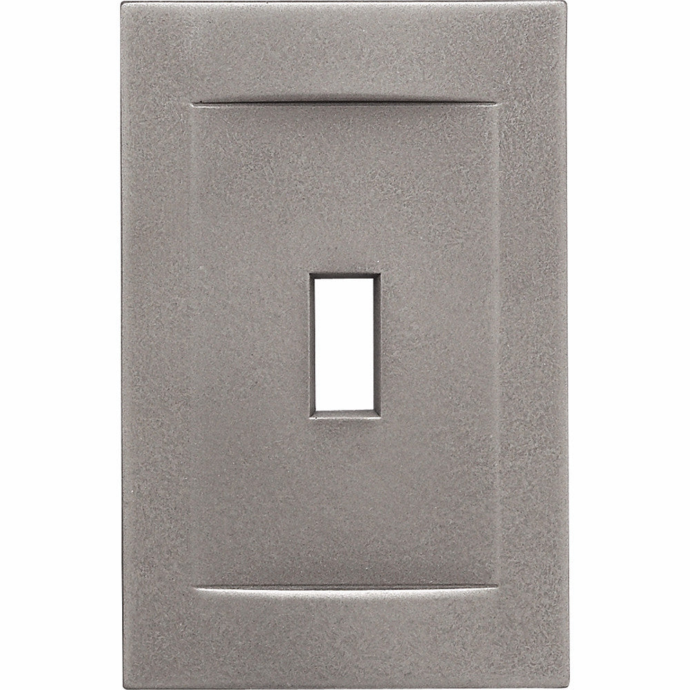 Brushed Nickel Cast Metal Magnetic - 1 Toggle Wallplate
