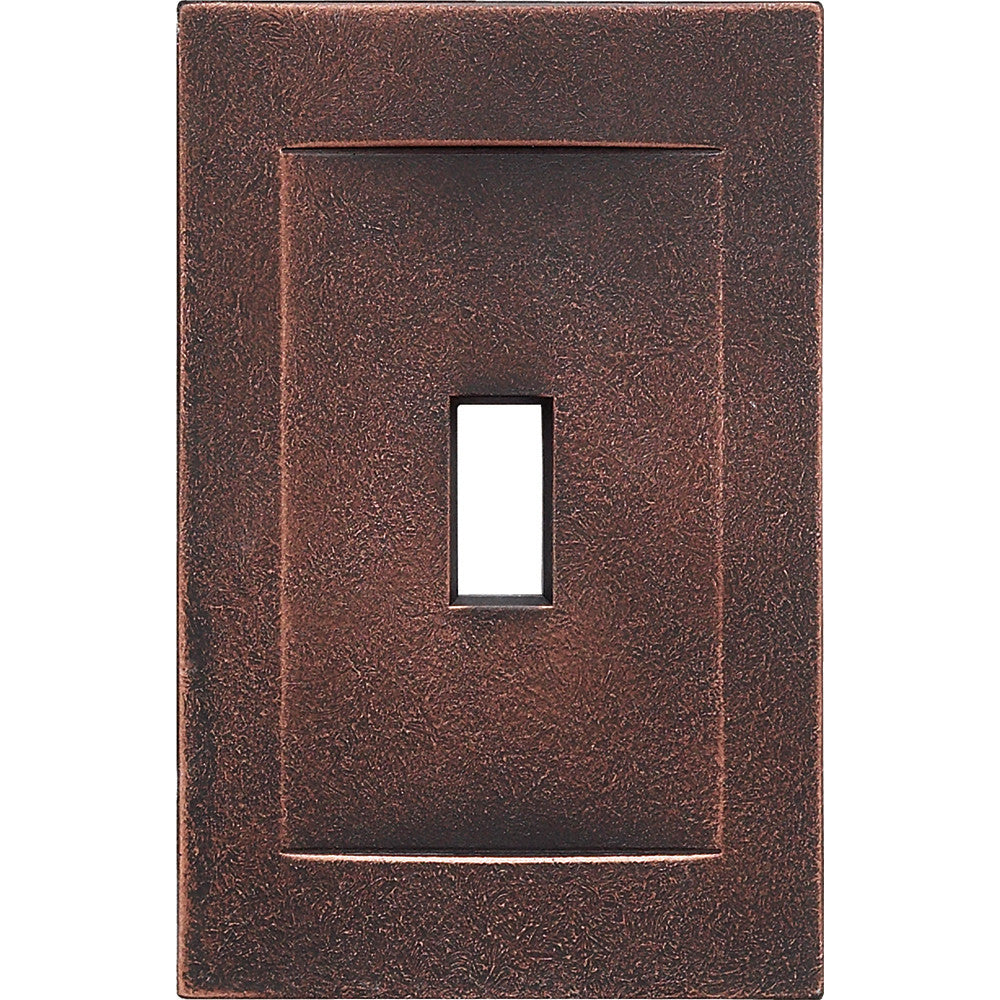 Oil Rubbed Bronze Cast Metal Magnetic - 1 Toggle Wallplate