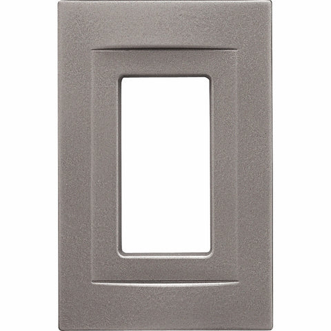 Brushed Nickel Cast Metal Magnetic - 1 Rocker Wallplate