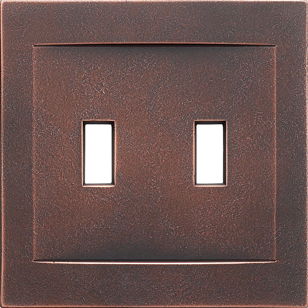 Oil Rubbed Bronze Cast Metal Magnetic - 2 Toggle Wallplate