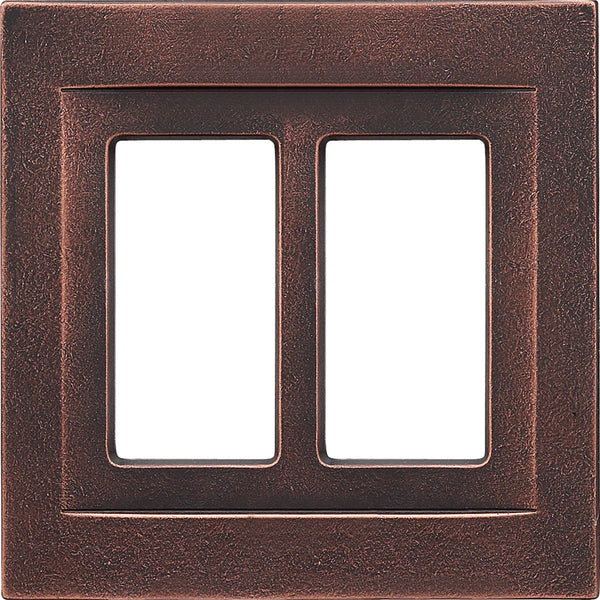 Oil Rubbed Bronze Cast Metal Magnetic - 2 Rocker Wallplate