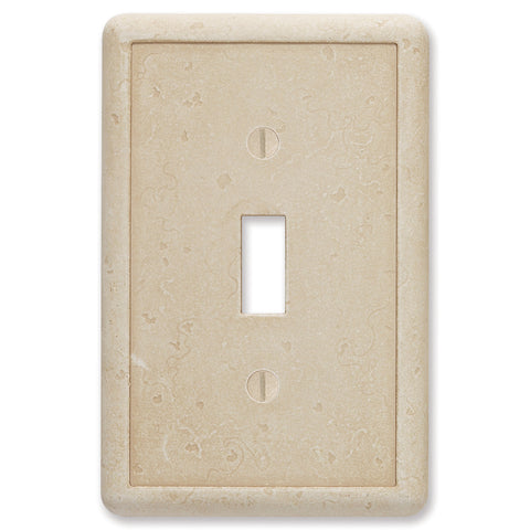 Travertine Tumbled Cast Stone - 1 Toggle Wallplate