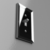Studio Polished Chrome Cast - 1 Rocker Wallplate