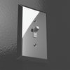 Century Polished Chrome Steel - 5 Toggle Wallplate