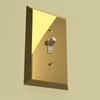 Century Polished Brass Steel - 1 Rocker Wallplate