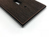 Twill Oil Rubbed Bronze Cast Metal - 1 Duplex Wallplate
