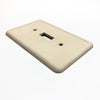 Ivory Cast Stone - 4 Toggle Wallplate
