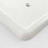 White Linen Cast Stone - 3 Rocker Wallplate