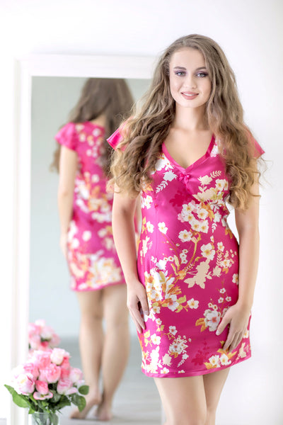 Japanese Garden - Sunset Satin Sleepwear - MyMONIQ