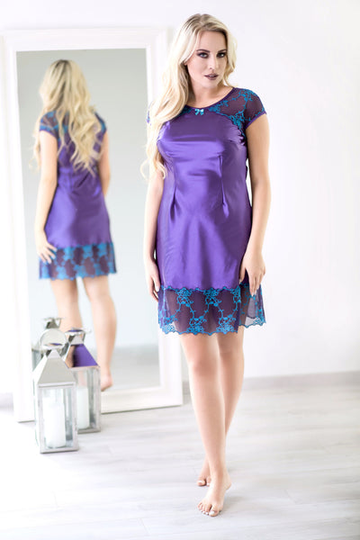 Purple Hydrangeas Satin Sleepwear - MyMONIQ