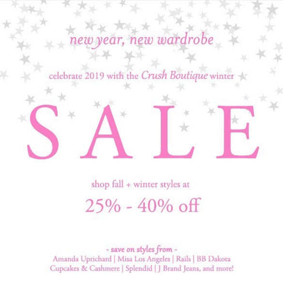 Crush Boutique Winter Sale Starts Now!