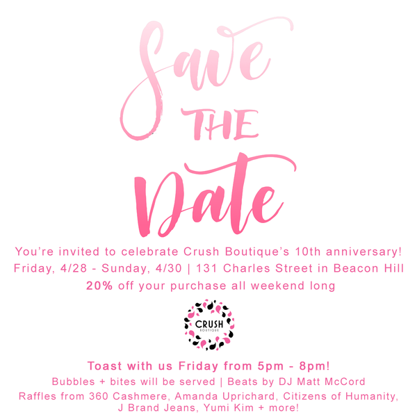 Save the Date for our 10th Anniversary!