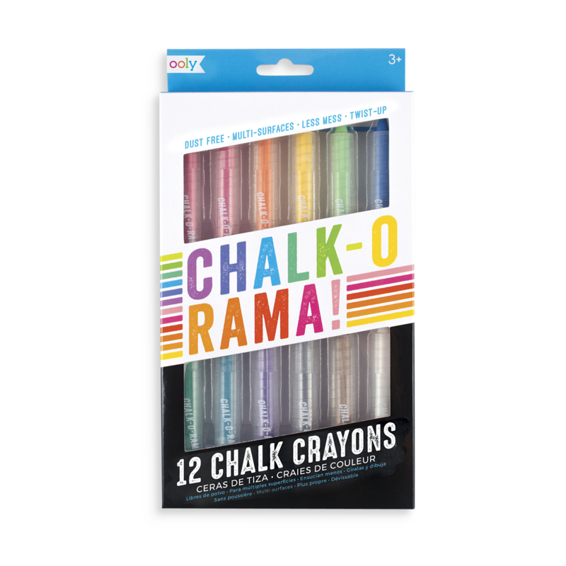 OOLY Chalk-O-Rama Dustless Dustless Chalk Crayon Set