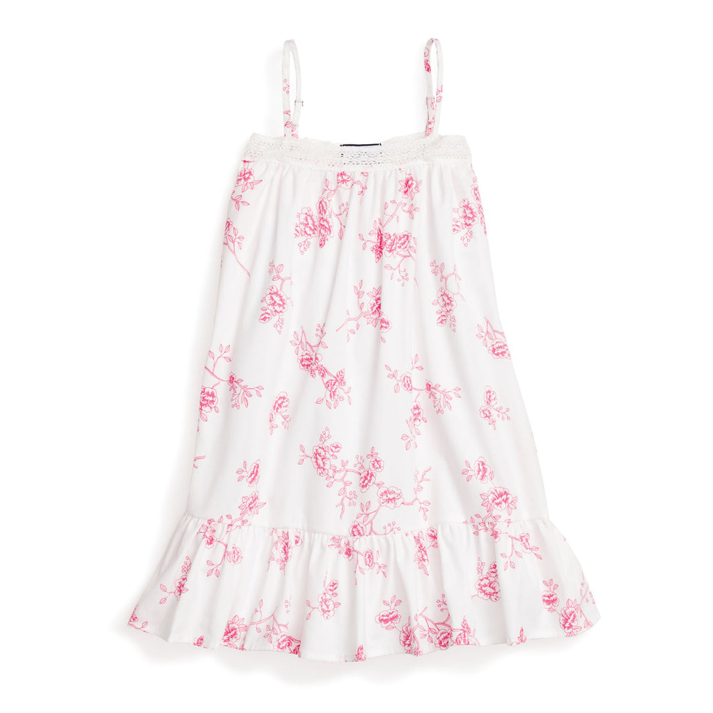 Petite Plume Girls English Rose Floral Lily Nightgown