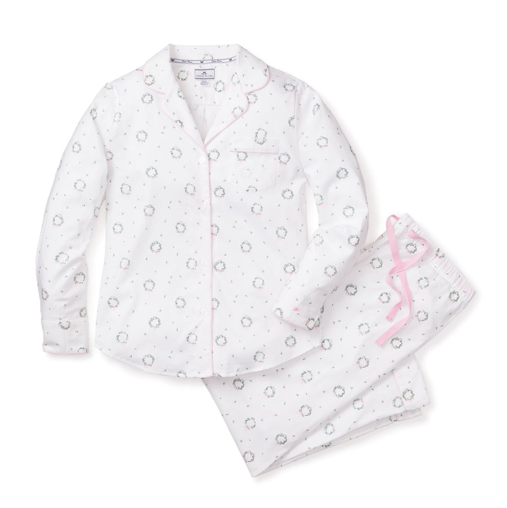 Petite Plume Women's Somerset Wreath Pajama Set