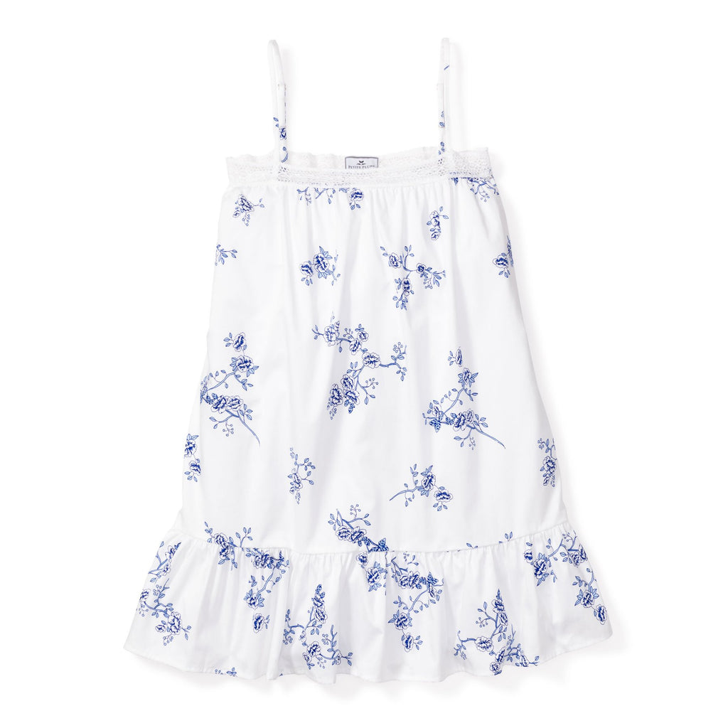 Petite Plume Girls Indigo Floral Lily Nightgown