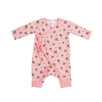 Angel Dear Mini Rose Wrap Coverall in Crystal Rose