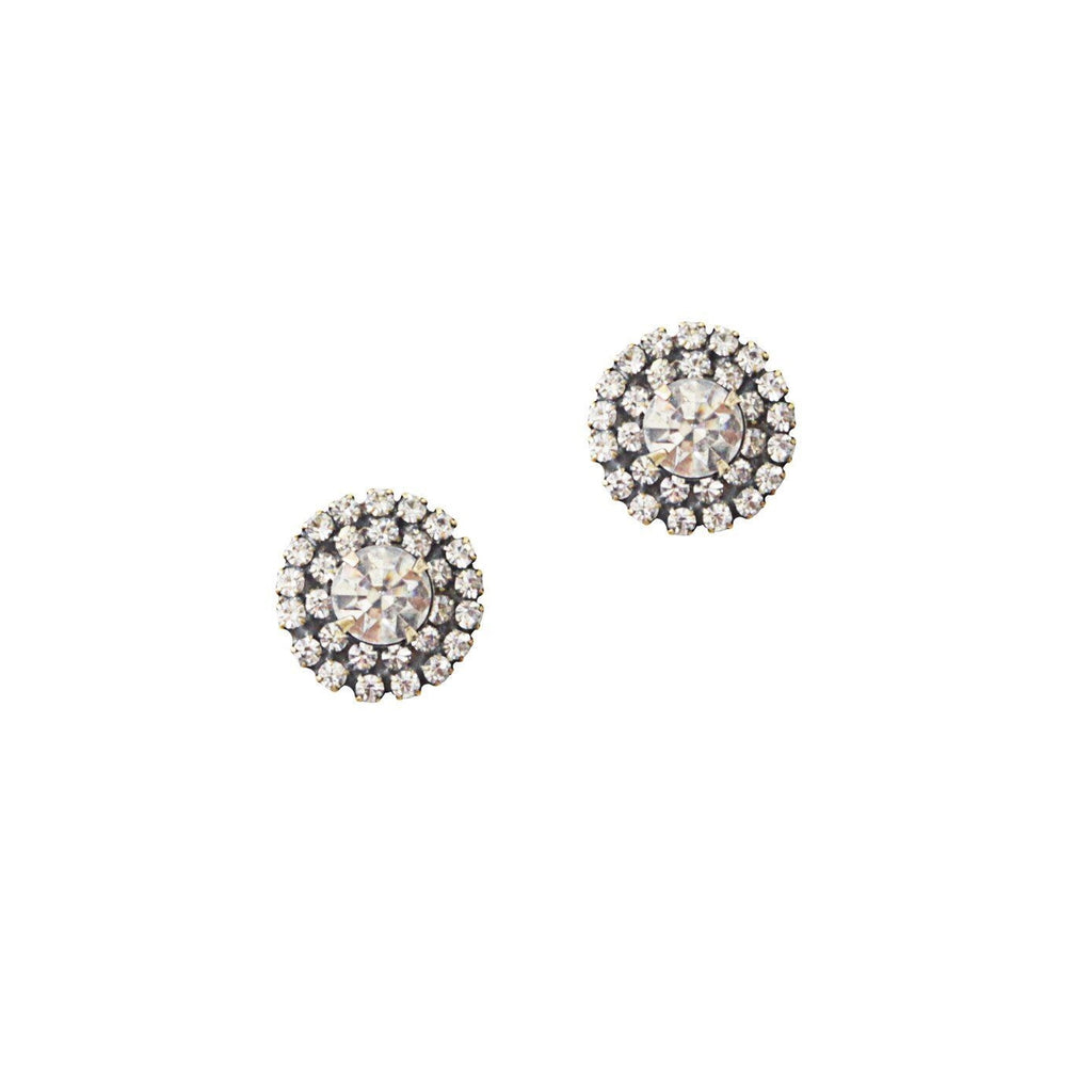 Loren Hope Chloe Double Row Studs in Crystal
