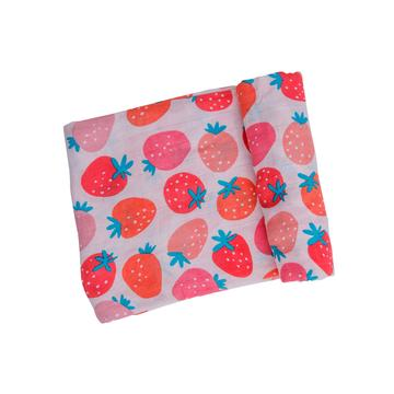 Angel Dear Swaddle Blanket - Strawberries