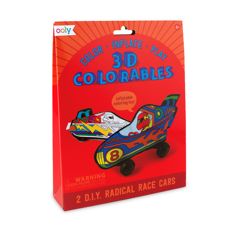 OOLY 3D Colorables Radical Racecars