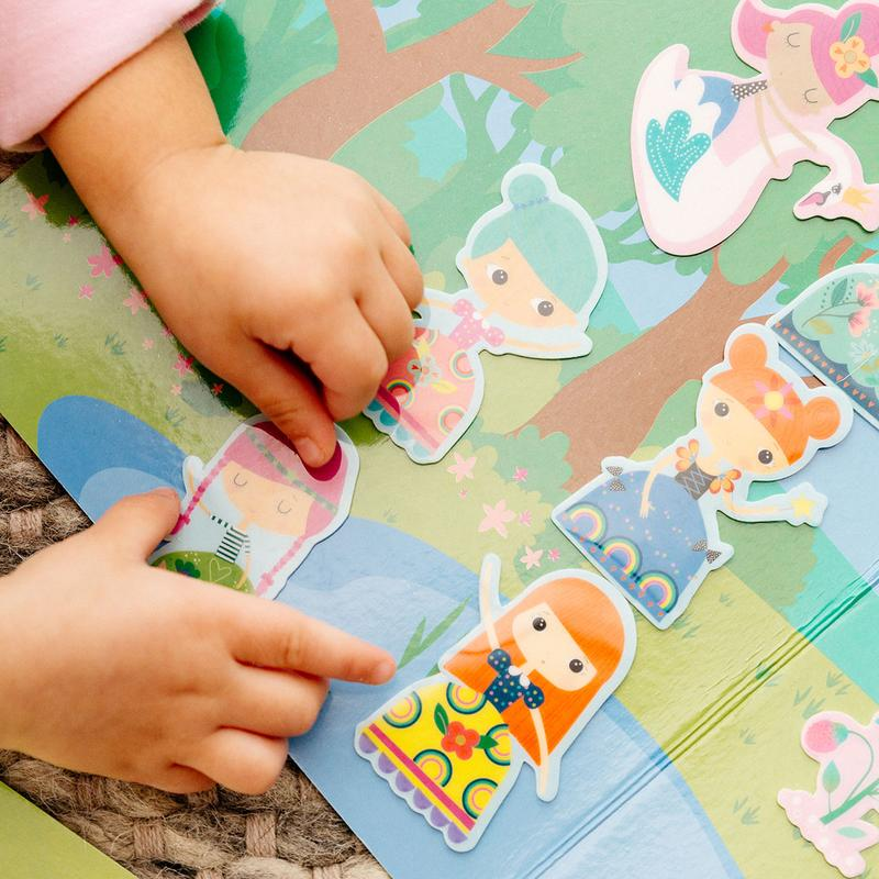 OOLY Play Again Reusable Sticker Scenes - Princess Garden