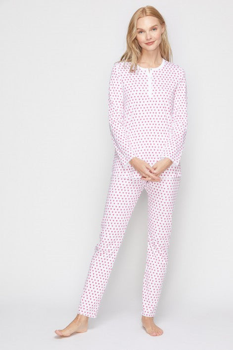 Roller Rabbit Women's Pink Hearts Pajamas
