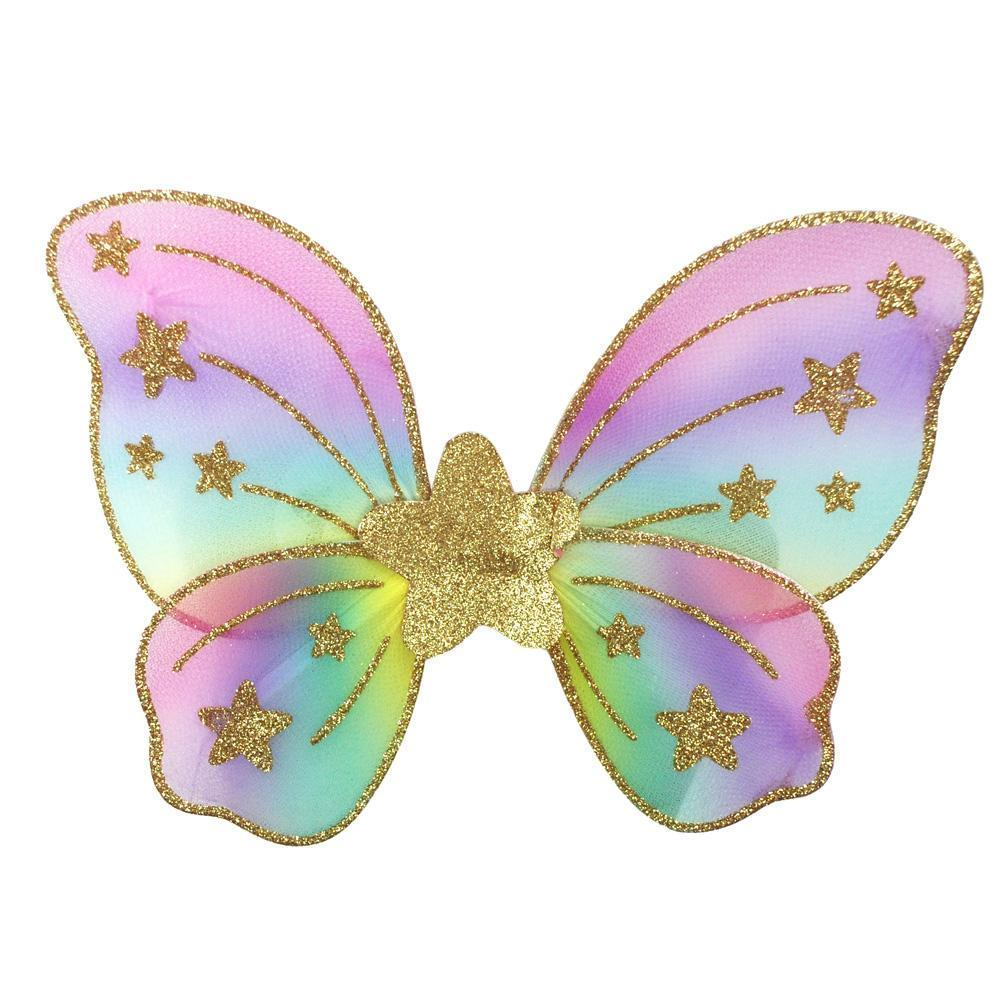 Pink Poppy Pastel Rainbow Star Dress Up Wings